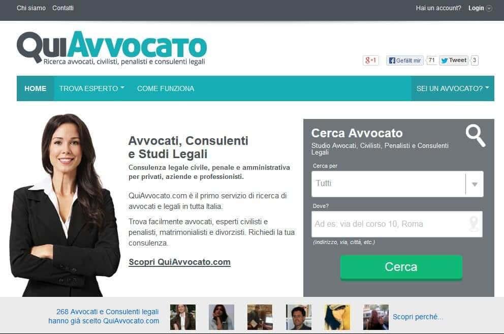 Il primo motore di ricerca italiano per avvocati e professionisti legali