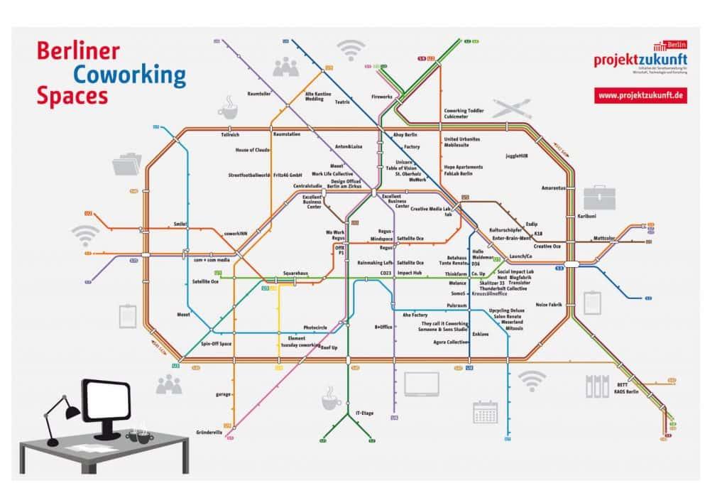 Mappa Coworking a Berlino