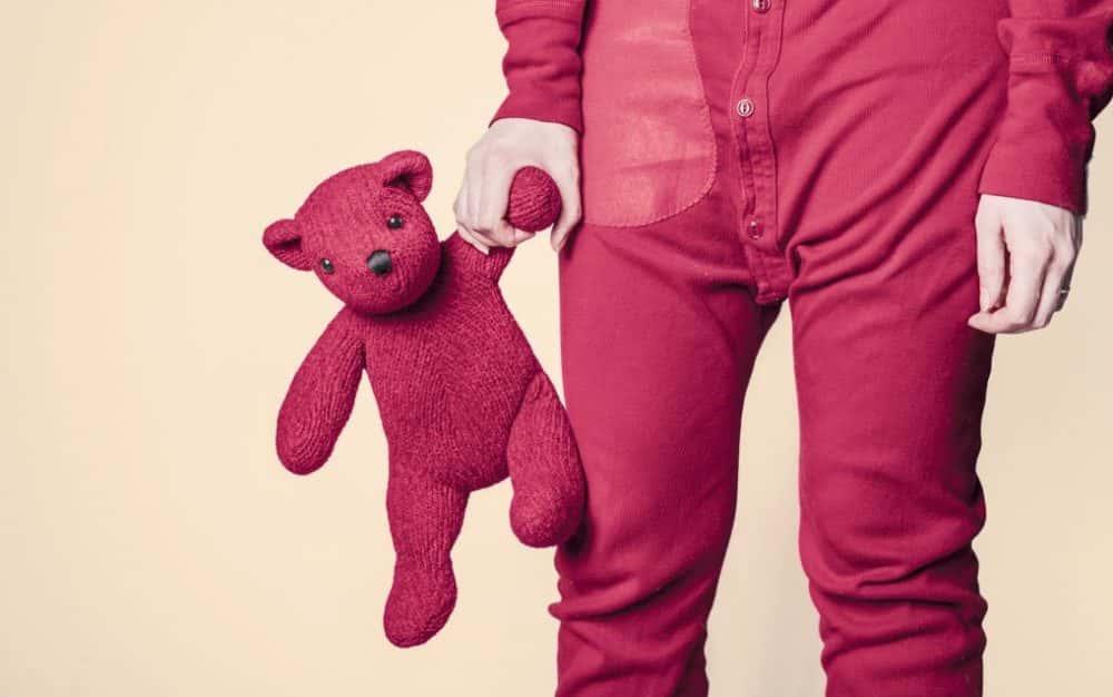 pigiama orsetto rosso